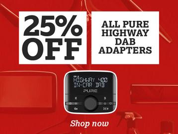 25% off all Pure Highway DAB Adapters